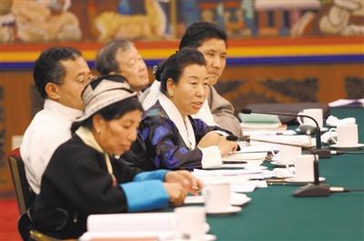 聚焦全国两会:西藏代表团掠影