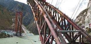 藏木特大桥工程进展顺利
